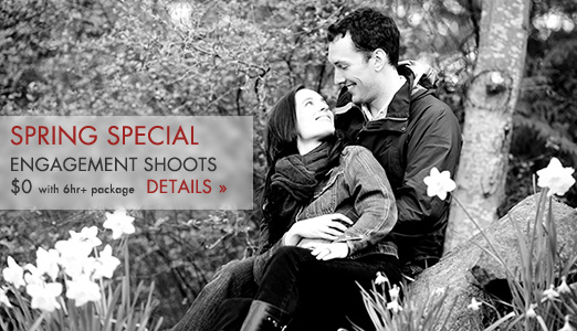 Free engagement shoots with 6hr+ package