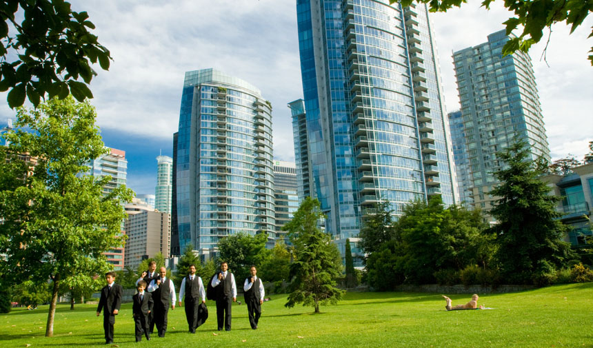 Vancouver wedding photography in Coal Harbour BC Canada