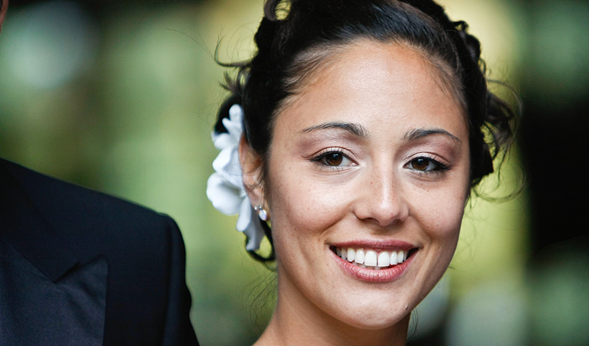 beautiful smile for vancouver wedding photography at fairmont hotel lobby, whistler bc canada