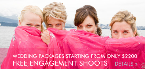 Spring Specials!  Free engagement shoots until June 20 with all wedding photography packages